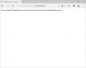 Windows Azure Pack displays an error if you try to run a beta8 project