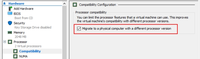 Hyper-V emulators setting